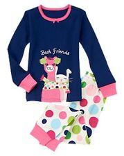 Gymboree Gymmies Navy Best Friends Lama & Bunny Pajamas PJs Set Girls 7 NEW NWT