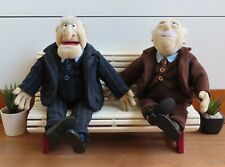 Waldorf and Statler Dolls With Garden Bench Igel Junior Toys Muppet Show Muppets
