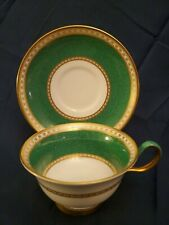 "Wedgwood ""Ulander Powder Green"" Peony Shape Cup And Saucer Set. Mint!"