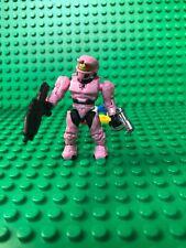 HALO MEGA BLOKS UNSC PINK SPARTAN W/ GRENADE LAUNCHER & GUN MINI FIGURE 97520