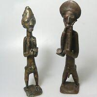 Antikes Bronze Pärchen vermutlich Afrika ca. 27 cm top Zustand