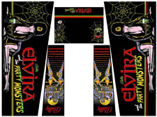 Elvira And The Party Monsters Pinball Machine Cabinet Decals NEXT GEN - LICENSED