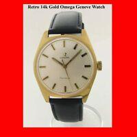 Vintage Omega 14k Gold Mint Geneve Wrist Watch 1975