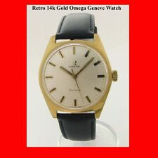 Vintage Omega 14k Gold Mint Geneve Wrist Watch 1975