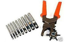 10PC HOLLOW LEATHER PUNCH SET TACK TOOLS LEATHERWORKING