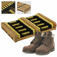 Heavy Duty Double Shoe Boot Scraper Brush Outdoor Door Mat Wellington Cleaner