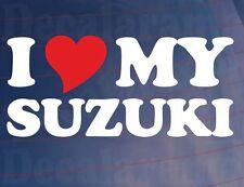 Me love/heart Mi Suzuki Novedad motorcycle/motorbike/bike Vinilo calcomanía / etiqueta adhesiva