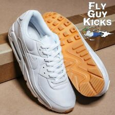 New! Authentic Nike Air Max 90 Gum Light Brown White Sail DC1699-100 Off