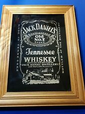 Jack Daniel`s Old No7 Tennessee Whiskey Fantastic Bar Mirror Wood Frame Man Cave