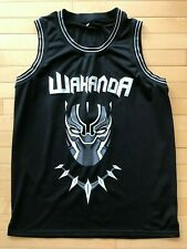 Black Panther Wakanda T'Challa Killmonger Basketball Jersey Sewn Mens Sz XL