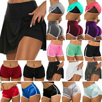Women High Waist Yoga Shorts Sports Hot Pants Ladies Gym Workout Casual Beach