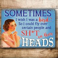 Funny gift Idea for women her joke metal sign birthday present mum friend sister