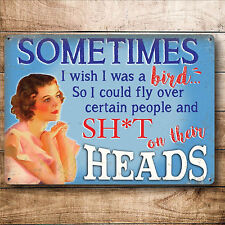 VINTAGE STYLE METAL WALL SIGN PLAQUE FUNNY KITCHEN PICTURE GIFT FOR WOMEN FRIEND