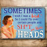 Funny gift Idea for women her joke metal sign birthday present mum friend sister