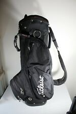TITLEIST LIGHTWEIGHT SUNDAY CARRY 8-WAY DIVIDER GOLF BAG, BLACK