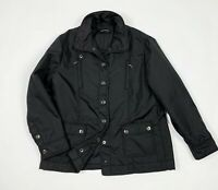 Elena miro jacket donna usato nero elegante XL tg 50 bomber giubbino nero T5429