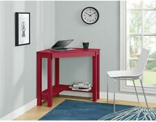 Corner Computer Desk Small Home Office Student Table Workstation Furniture Red
