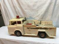 Vtg 1960s Marx Toys Big Bruiser Super Highway Service Tow Truck Toy Parts Repair