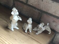 vintage 3x beautiful Poodle  Figurines/collectable Cute  Dogs Ornaments Japan