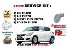 Per SUZUKI SWIFT 1.3 DDiS DT D13A 2011 - > Olio Aria Carburante Polline Filtro Servizio Kit