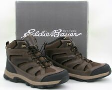 Eddie Bauer Men's Fairmont Hiking Boots Shoes Waterproof Brown Leather Sz 12 New