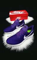SIZE 14 MEN'S NIKE AIR ZOOM PEGASUS 35 PURPLE WHITE RUNNING CASUAL AO3905 501