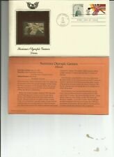 GOLDEN REPLICAS OF 1984 U. S. OLYMPIC GAMES 22K GOLD STAMPS