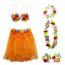 Lei Flower Floral Set 6Pc Lux Accessories Multicolor Halloween Tropical Hawaiian