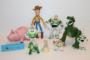 Disney Pixar Toy Story Action Figure Lot Of 10 Figures Buzz Woody Rex Hamm RARE