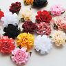 50PCS Ribbon Flowers Bows Carnation Appliques Wedding Decor Lots Mix Bulk A0259
