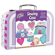Kids Sewing Kit Case Craft Art Sew Beads Felt Children Create Christmas Gift