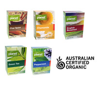 HERBAL TEA BAGS 50pk ~ Certified Organic ~ Premium Dried Herbs Planet Organic