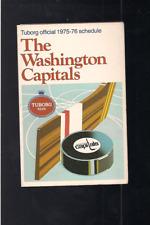 HOCKEY NHL WASHINGTON CAPITALS POCKET SCHEDULE 1975-76, NO WRITINGS