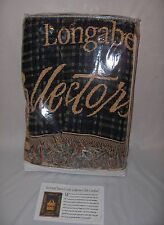 Longaberger 1999 Collector's Club Cotton Throw Blanket Basket Pattern New Nice