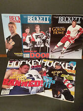 Lot of 5 - 1995-1998 Beckett Hockey Magazines - Wayne Gretzky