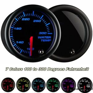 12V 2Inch/52mm LED Universal Car Water Coolant Temperature Temp Gauge Meter - °F