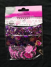 50th Anniversaire Décoration de table CONFETTI Sprinkle noir rose violet
