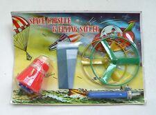 Vintage SPACE CAPSULE & FLYING SAUCER Play Set MOC 1960's Hong Kong