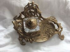 Vintage Baroque Inkwell with Gold Stand
