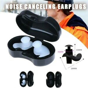 Silicone Anti Noise Foam Ear Plugs For Swim Sleep Work With Box Reuseable Soft