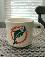 Vintage MIAMI DOLPHINS 1976 Football SEASON SCHEDULE Ceramic Coffee CUP Mug NFL