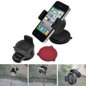 360 Rotating In Car Mobile Phone Mount Holder Dashboard Windshield Bracket Stand