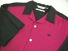 DaVinci Mens Shirt 2XL Charlie Sheen Black Floral Collar Short Sleeve Button