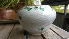 Handpainted Herend Parsley pattern bowl / pot / vase made in 1943