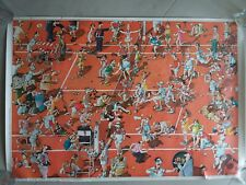 Crazy Tennis Poster by Roger Blachon French Cartoonist 1979