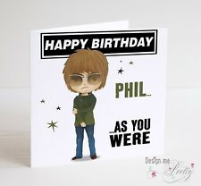 LIAM GALLAGHER Personalised Birthday Card - MAD FOR IT!  OASIS