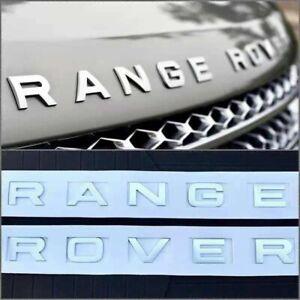 RANGE ROVER MATTE SILVER 3D LOGO EMBLÈME stickers autocollant