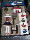 Wonderuful Vintage Peruvian Hand Woven Textile Rug Tapestry South American Art
