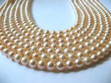 Lotto di N°7 Fili Perle Coltivate di Acqua Dolce Rosa 5,5 mm. ,Lunghe cm.40