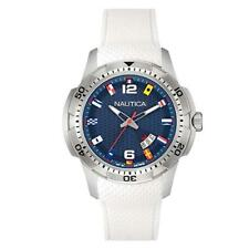 Orologio Uomo NAUTICA NCS 16 NAI13514G Bandierine Flag Silicone Bianco Blu